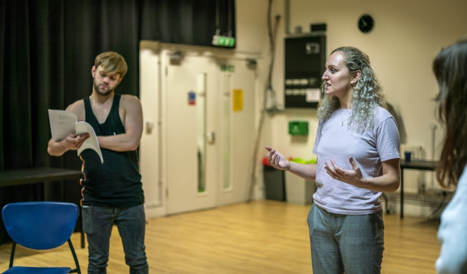 Denholm Spurr and Vicky Moran in No Sweat Rehearsals